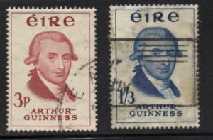 Ireland Sc 171-2 1959 Arthur Guinness stamp set used
