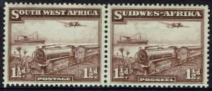 SOUTH WEST AFRICA 1937 TRAIN 11/2D PAIR MNH **
