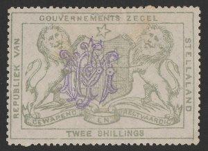 BECHUANALAND Stellaland 1886 Arms Revenue 2/- slate-grey, monogram h/s.
