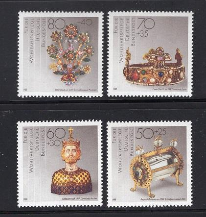 Germany  #B670-B673   1988  MNH  gold and silver artefacts