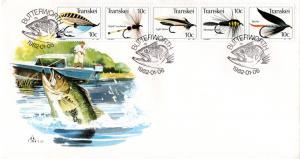 Transkei - 1982 Fishing Flies FDC SG 99-103