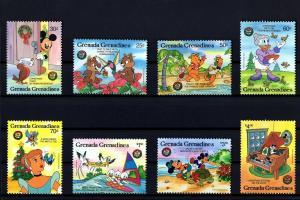GRENADA GR - 1986 - DISNEY - CHRISTMAS - MICKEY - ANIMAL FRIENDS - MINT MNH SET!