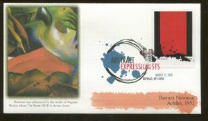 2010 Buffalo New York - Abstract Expressionists - Barnett Newman - Fleetwood FDC