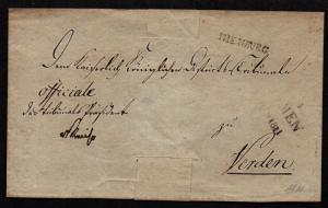 $German Stampless Cover, Nienburg (1811)