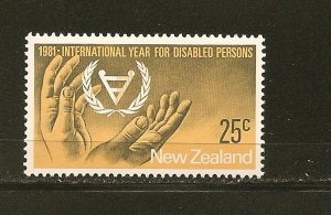 New Zealand 725 Disabled Persons MNH