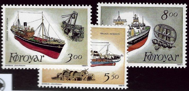 Faroe Islands SC#158-160 Mint VF SCV$6.80...Faroe Islands are Magical!
