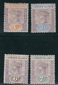 Leeward Is 4 Different MLH 1890 SCV $43.75