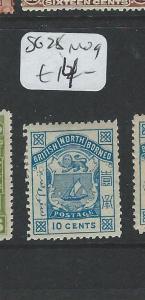 NORTH BORNEO  (P0308B2) LION CREST 10C SG 28  MOG