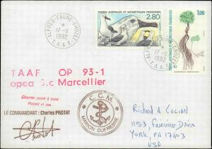 French Southern & Antarctic Territory #209, Antarctic Cachet and/or Cancel