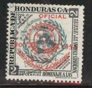Honduras  Scott C232 Used stamp with Rotary official overprint