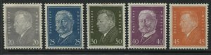 Germany 1928-30 definitives 20 to 45 pf mint o.g.