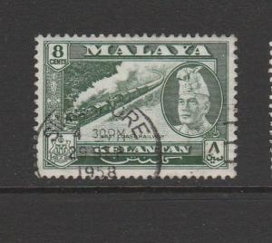 Malaya Kelantan, 1957 Defs 8c FU SG 87