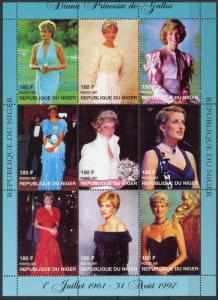 Niger #944-945 Princess Diana MNH
