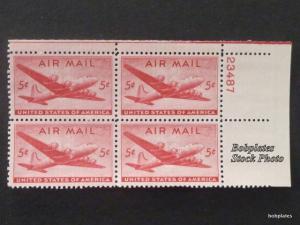 BOBPLATES #C32 Skymaster #23488 Lower Left Plate Block  F-VF NH