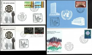 1977 United Nations Geneve New York Combat Racism Vibria 77 & Human Settlements