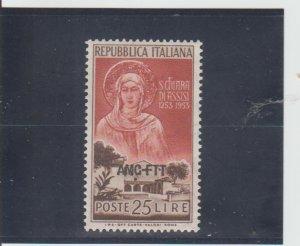 Trieste  Scott#  169  MH  (1953 Overprinted)