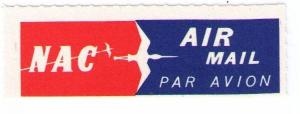 NEW ZEALAND NATIONAL AIRWAYS CORP, NAC 1969 AIR MAIL LABEL CAT #NZL-B-4b
