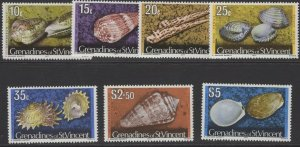 GRENADINES OF ST.VINCENT SG42Bc/52B 1977 SHELLS WITH 1977 IMPRINT DATE MNH