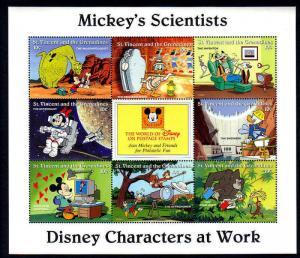 ST VINCENT - 1996 - DISNEY - MICKEY - DONALD - SCIENTISTS - MINT - MNH SHEET!