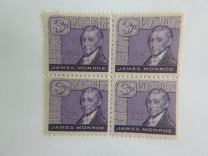 U. S. #1105  Mint Block  OG  NH