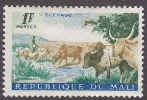 Mali 17 Shepherd and Cattle 1961