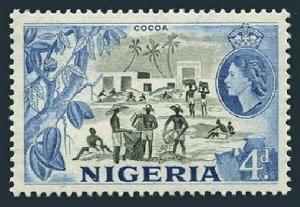 Nigeria 85,hinged.Michel 76. Queen Elizabeth II,1953.Cocoa industry,