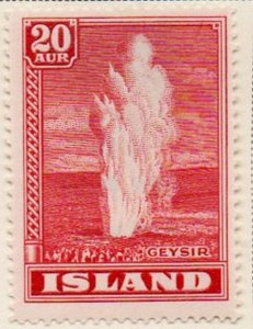 Iceland Sc 204 1938 20 aur geyser stamp mint
