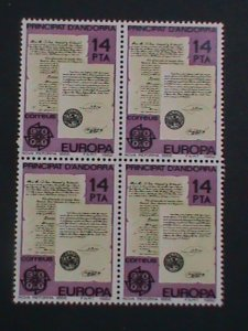 ANDORRA-SPAIN-1982 SC#143 NEW REFORMS 1866  -MNH BLOCK OF 4-VERY FINE