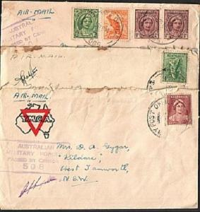 AUSTRALIA WW2 3 censor covers, Army POs etc ...............................63345