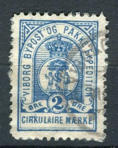 NORWAY; VIBORG 1860s-80s early classic By Post local issue used