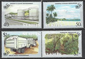 St. Kitts 398-401   MNH  United Nations  50th Anniversary