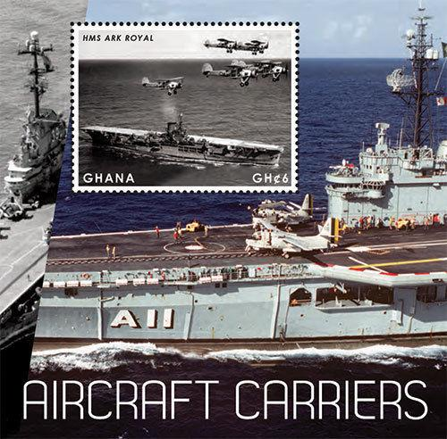 Ghana - Aircraft Carriers, Airplanes, 2012 - Sc 2716 S/S MNH