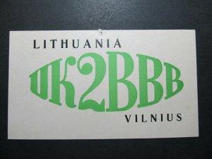 5632 Amateur Radio QSL Card Vilnius Lithuania