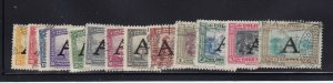 Columbia Scott # C186 - C198 VF used set nice color cv $ 52 ! see pic !