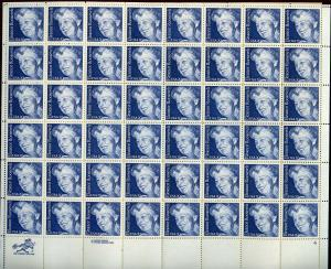 US SCOTT# 2105 ELEANOR ROOSEVELT COMPLETE SHEET OF 48 STAMPS MNH AS SHOWN