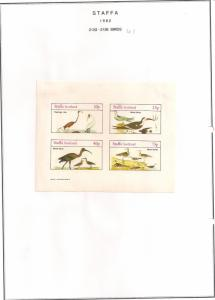SCOTLAND - STAFFA - 1982 - Birds #54 - Imperf 4v Sheet - MLH