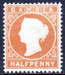 Gambia - Scott #5 - MH - CC Wmk. - Some ink missing at top - SCV $13.00