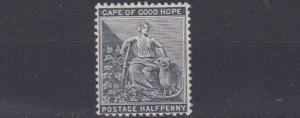CAPE OF GOOD HOPE  1884 - 90    S G 48  1D  BLACK     MH