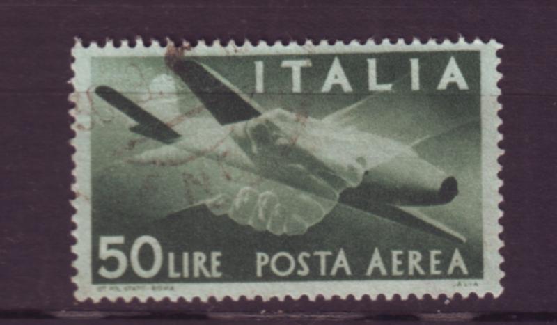 J20413 jlstamps 1945-7 italy used #c113 airplane
