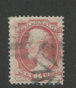 1870 US Stamp #137 6c Used F/VF H. Grill  Catalogue Value $400