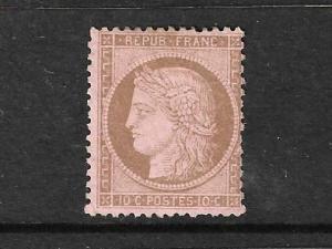 FRANCE  1871-75  10c BISTRE/ROSE  CERES  MNG  SG 194 Sc 55