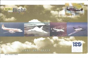 100 Years Of Flight First Day Cover Republic P-47 Thunderbolt 2004 Liberia Z5532