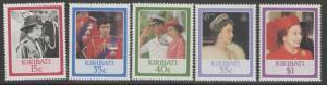 KIRIBATI SG251/5 1986 60th BIRTHDAY OF QEII MNH
