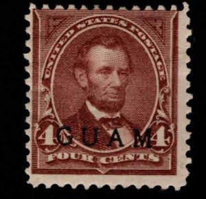 GUAM Scott 4 MH* 19th century overprint CV $125