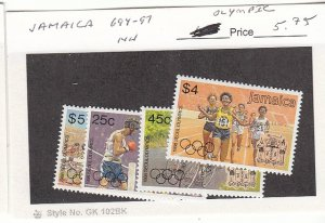 J25756  jlstamps 1988 jamaica set mnh #694-7 sports all checked