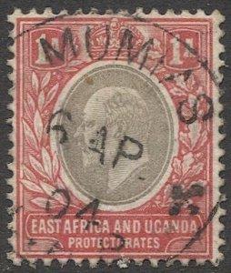 EAST AFRICA & UGANDA 1903 Sc 2  1a Used VF, MUMIAS postmark/cancel