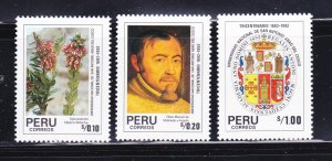 Peru 1008-1010 Set MH Various