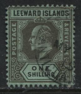 Leeward Islands KEVII 1911 1/ black on green used