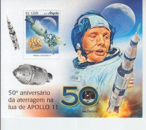 2019 Angola Moon Landing SS (Scott NA) MNH
