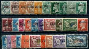 HERRICKSTAMP ALGERIA Sc.# 1-32 1924-1926 Set of 32 Overprints